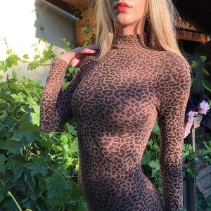 Bebe leopard mini dress